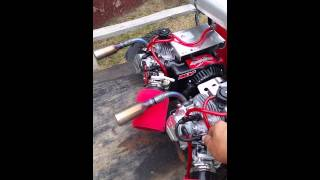 Twin Engine Modified Predator 212cc Initial First Start Up