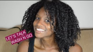 my new wash n go + miss jessie