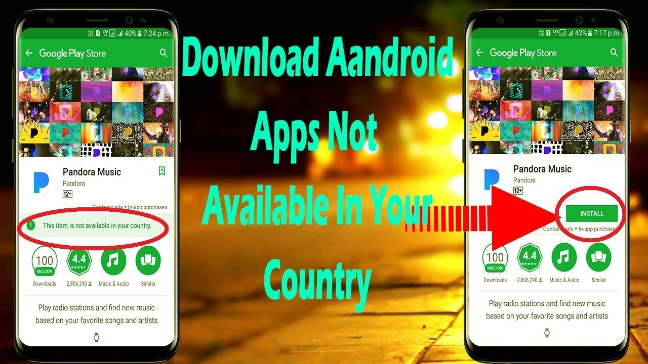how to download apps not in your country