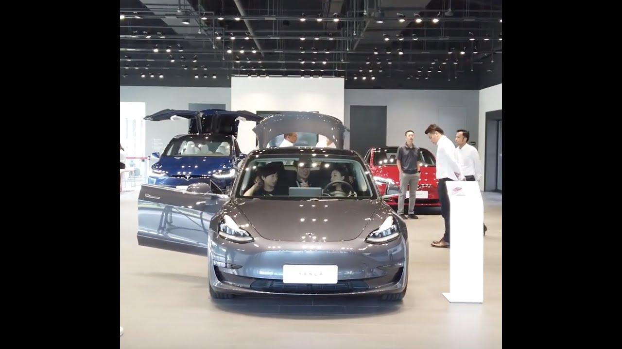 TESLA 內湖旗艦店 展示 Model 3 如何賞車購買【綠動未來】