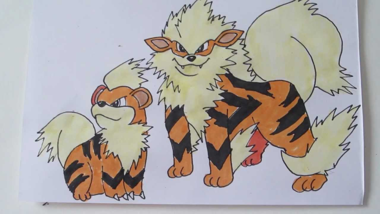 How to draw pokemon growlithe arcanine youtube - Arcanine pics ...
