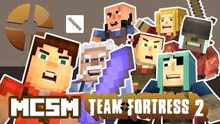 TF2 RED vs BLU! Minecraft Story Mode Episode 8 (Team Fortress 2 Theme)