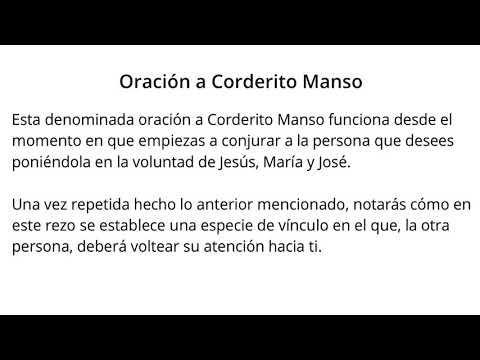 Oración a Corderito Manso 🤗 【PODER AL 1000%】🥇