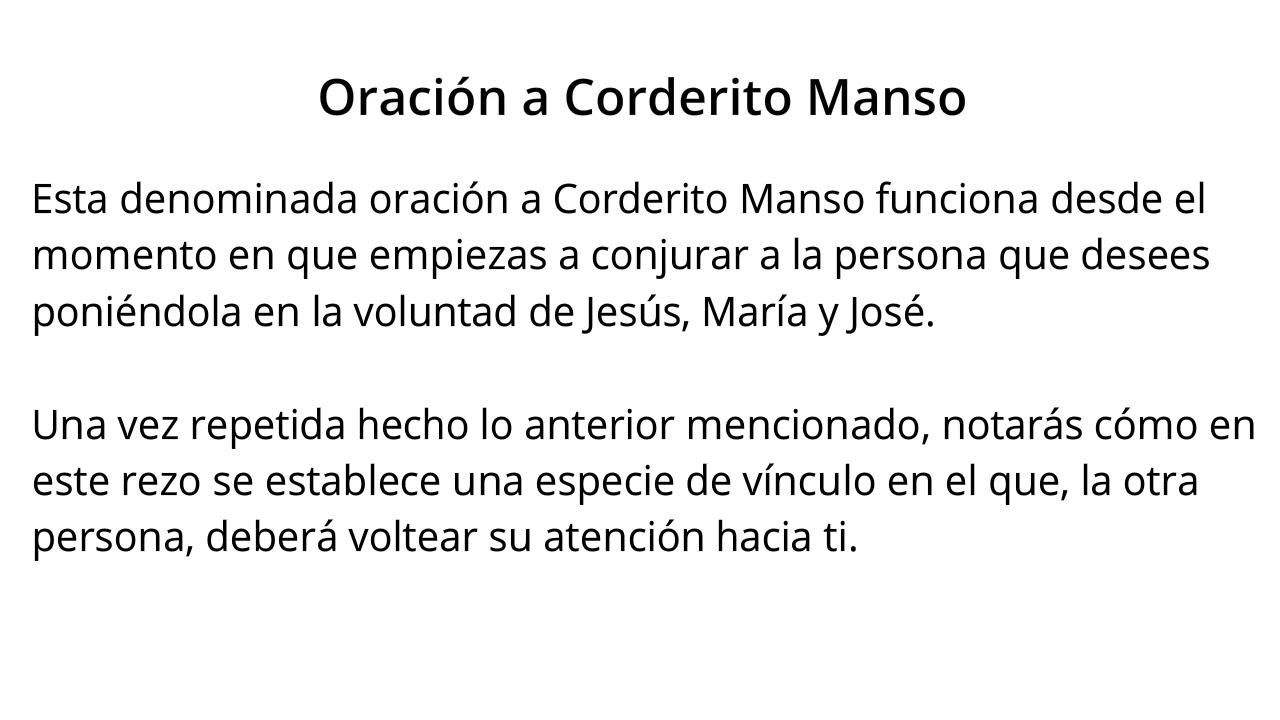Oración a CORDERITO MANSO【100% EFECTIVA】 - YouTube