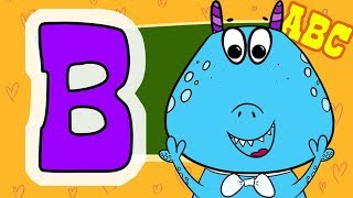 ABC for kids. The letter B. Learn an alphabet with animals. Free cartoons for your child.