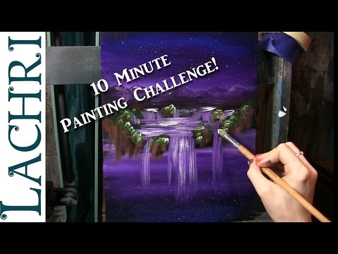 10 Minute Painting Challenge - easy Acrylic Painting w/ Lachri