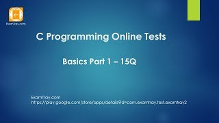 C Programming Online Test Introduction Basics - 1 [ Interview Questions ]
