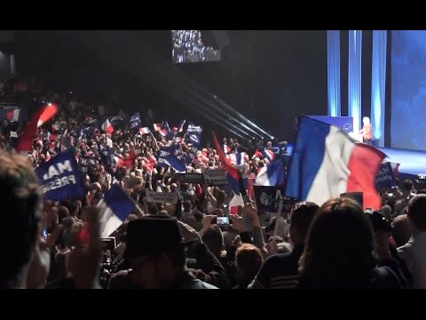 French Far right Candidate Le Pen Attends Rally as Election Looms