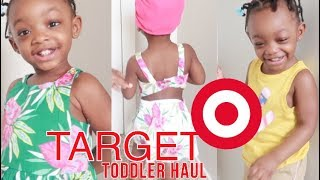 TARGET TODDLER SUMMER 2018 CLOTHING HAUL  BABY GIRL EDITION