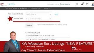 KW Website: Sort Listings **NEW FEATURE**