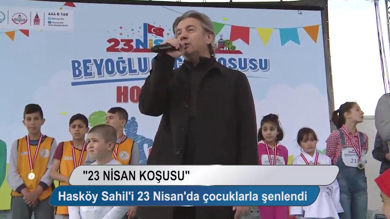 Hasköy Sahil'i 23 Nisan'da çocuklarla şenlendi