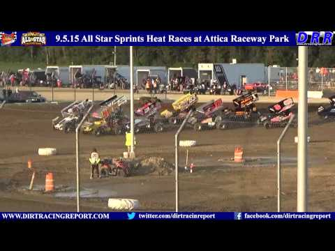 9.5.15 All Star Sprints Heat Races at Attica Raceway Park
