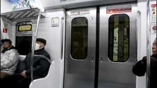[FHD]釜山都市鉄道 3号線 3000系 淑嶝駅 ドア開閉, 徳川駅 案內放送