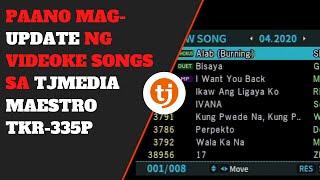 TAGALOG: How to Update Songs in TJ Media TKR-335P Karaoke/Videoke Player