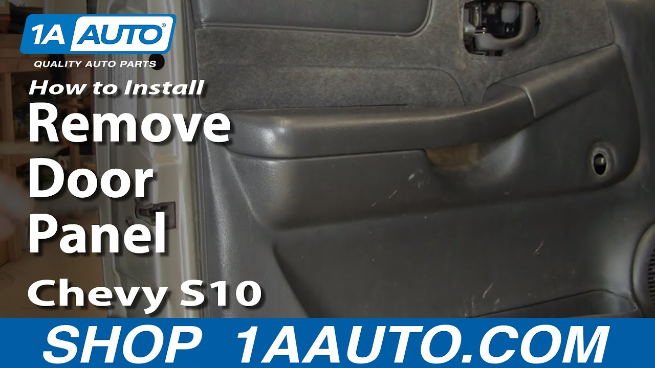 How To Remove Door Panel 99 04 Chevy S10 Pickup Youtube