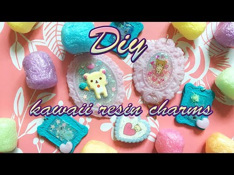 Kawaii Resin Charms DIY Tutorial I How to make the cutest Rilakkuma charms ever
