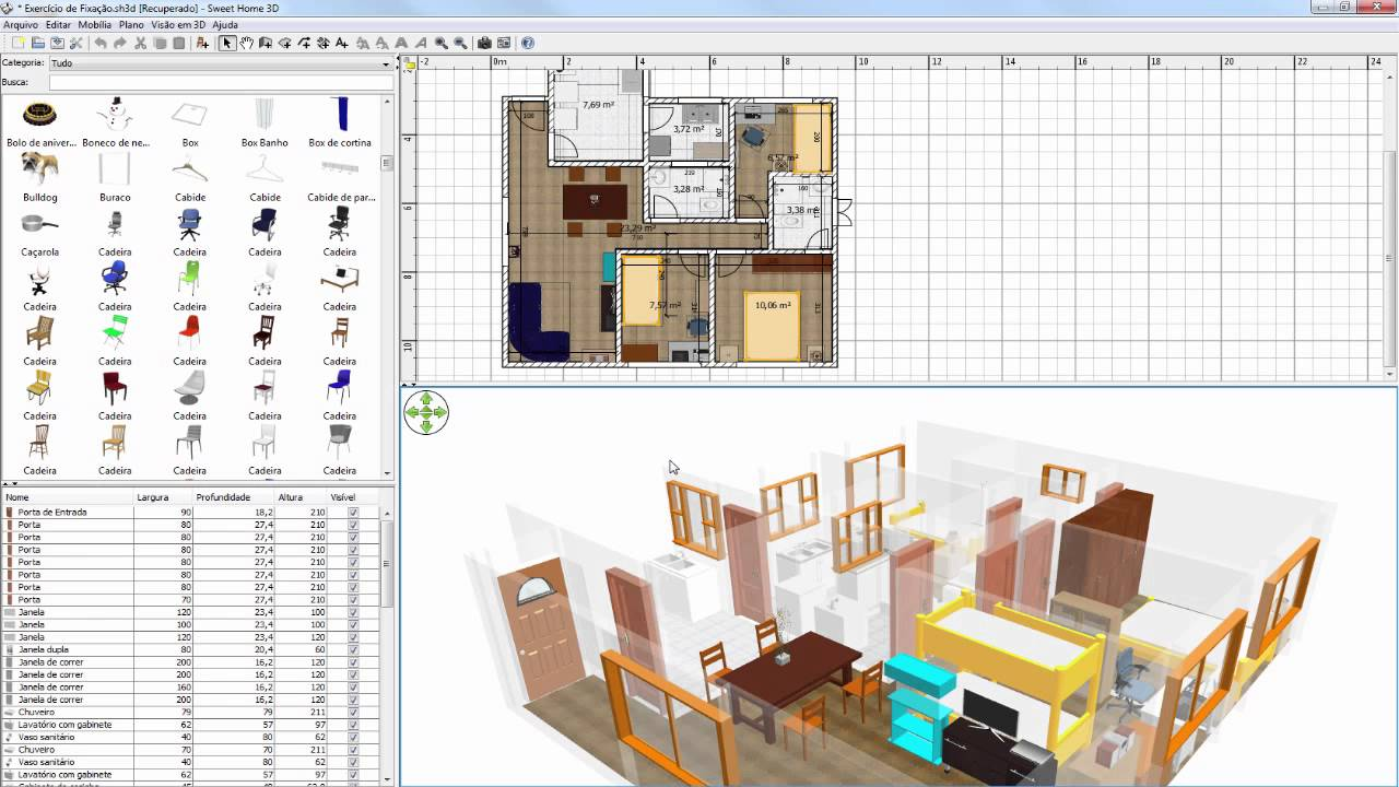 Como instalar o sweet home 3d mais m veis e texturas youtube for Home 3d