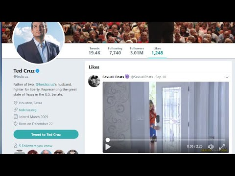 Ted Cruz Likes A Porno Video On Twitter