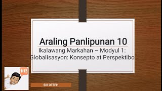 Lesson Vlog - AP10 Modyul 1 by…