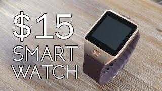$15 Smart Watch - DZ09 Review