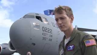 """Reserve C-17 pilot: """"All the way from America"""""""