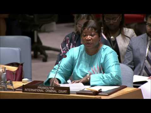 ICC Prosecutor Fatou Bensouda at UN Security Council