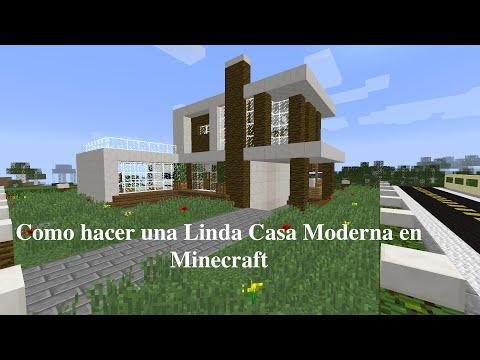 Como hacer una linda casa moderna en minecraft pt1 doovi for Como construir una casa