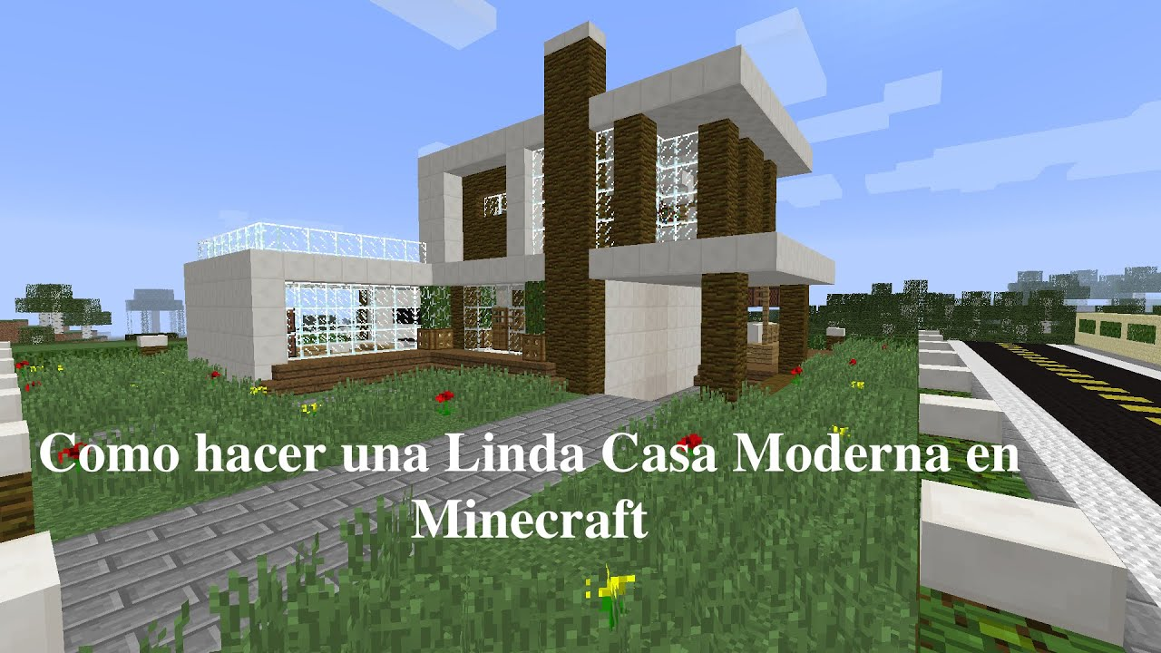 Como hacer una linda casa moderna en minecraft pt2 youtube for Decoracion casas modernas