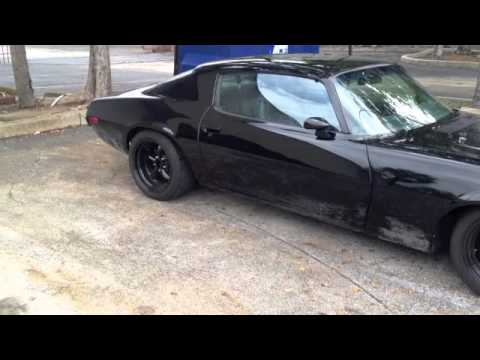 1973 Blacked out Camaro with Heidt's suspension - YouTube