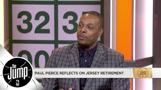 Paul Pierce describes emotions during jersey retirement ceremony | The Jump | ESPN