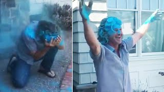 Grandpa-to-Be Falls Victim to Hilarious Gender Reveal Gone Wrong