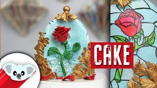 Beauty and The Beast Enchanted Rose Cake   Disney Party Ideas   DIY & How To   Princess Belle
