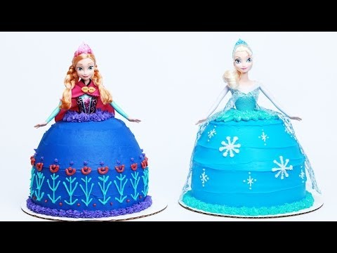 HOW TO MAKE A FROZEN PRINCESS CAKE - NERDY...