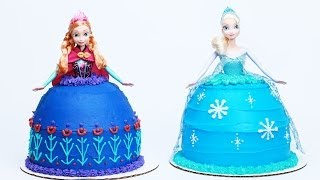 Repeat youtube video HOW TO MAKE A FROZEN PRINCESS CAKE - NERDY NUMMIES