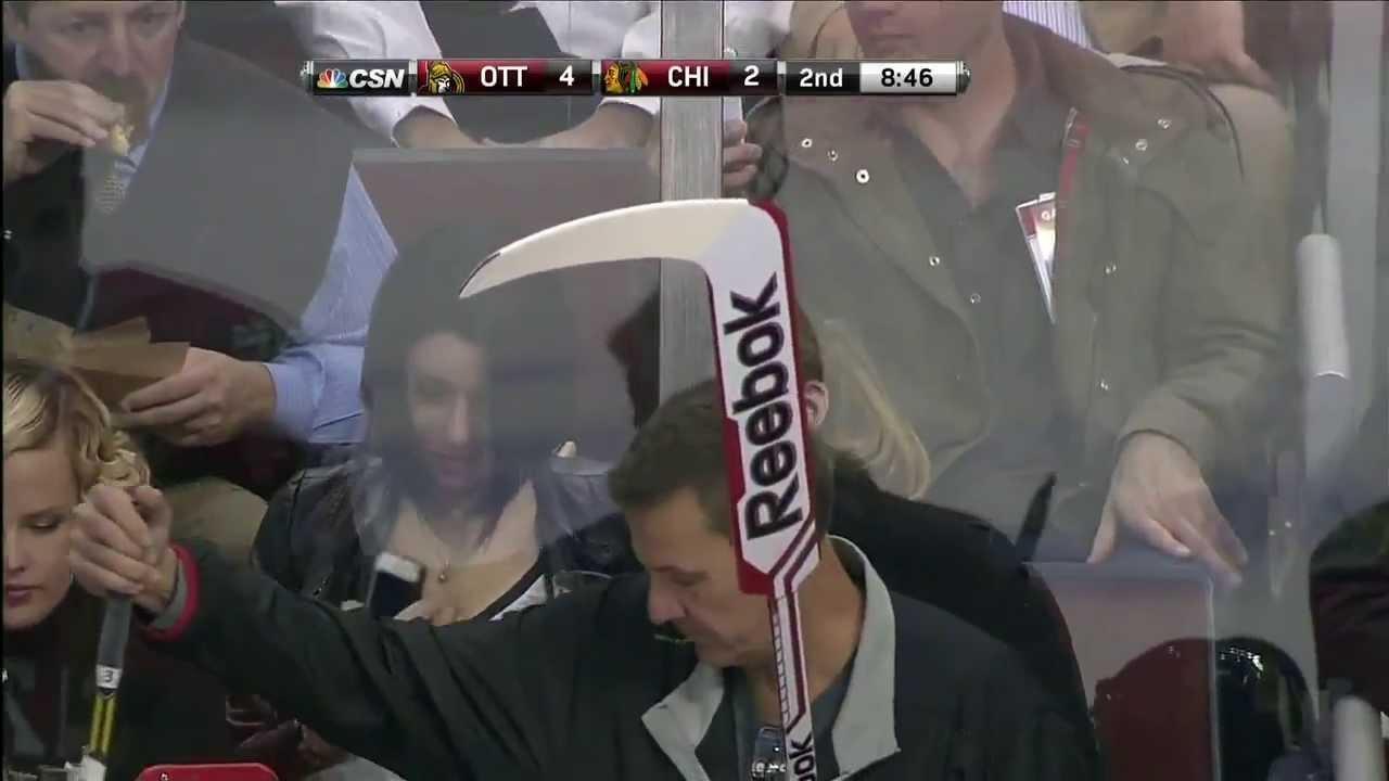 Boob flashing at blackhawks celebration