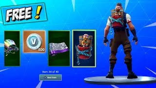 ALL 14 DAYS OF CHRISTMAS FREE REWARDS! (LEAKED) Fortnite How To Get Merry Marauder Backbling & SKINS
