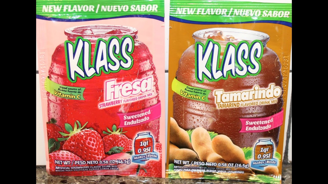 Klass Flavored Drink Mix Strawberry Tamarind Review Youtube