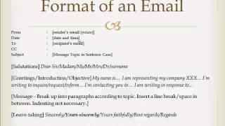 Business Emails (COM1110 English Communication Skills)