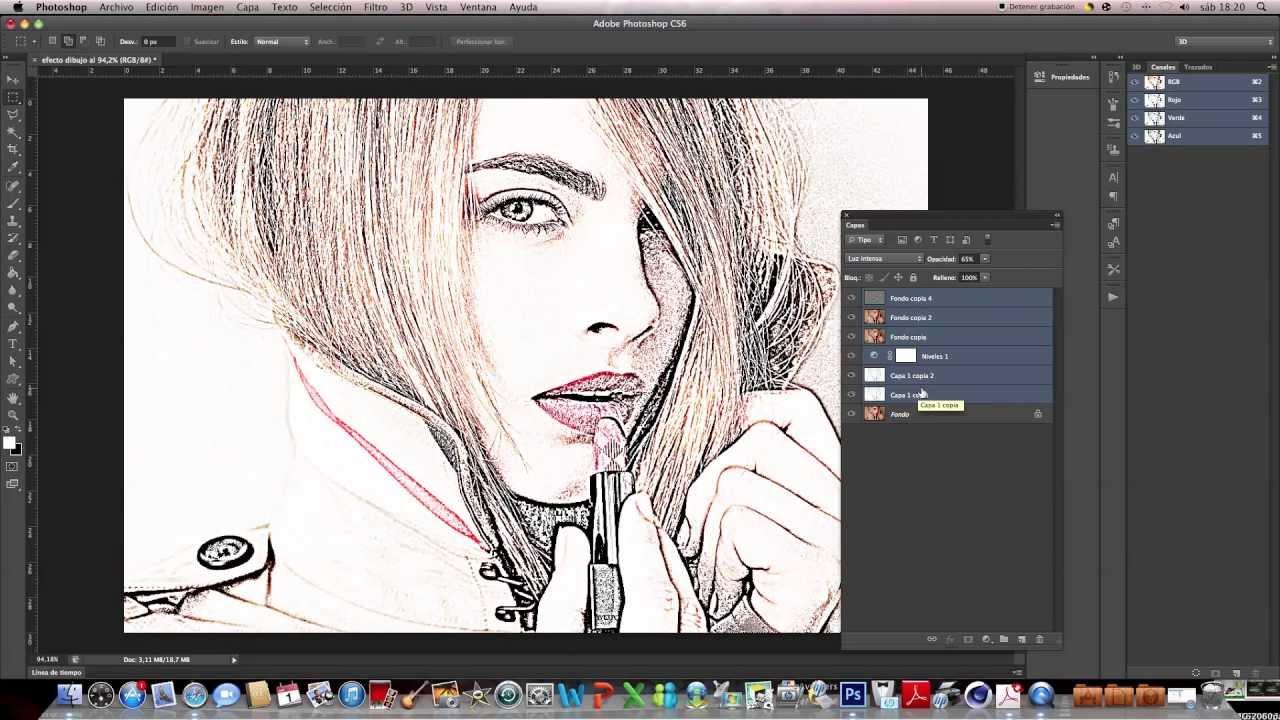 Dibujos Para Photoshop: Tutorial Photoshop CS6 En Español: Fotografía A Dibujo