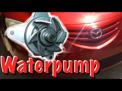 Water pump replacement on a Mazda 3 - YouTube