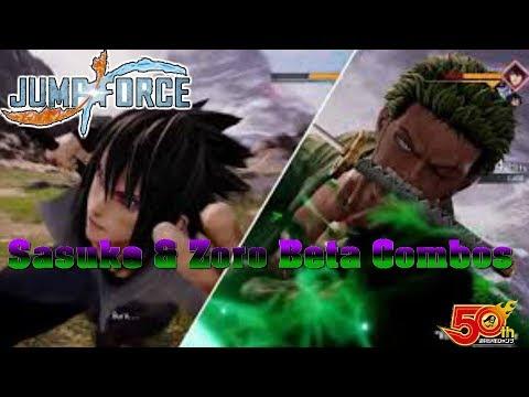 Jump Force: Sasuke and Zoro Beta Combos with awakenings