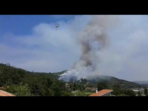 Ourense, pendiente del incendio en Casardomato