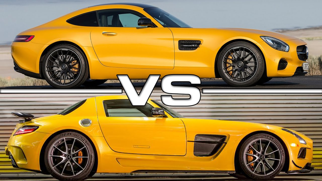 2016 Mercedes AMG GT vs Mercedes AMG SLS - YouTube