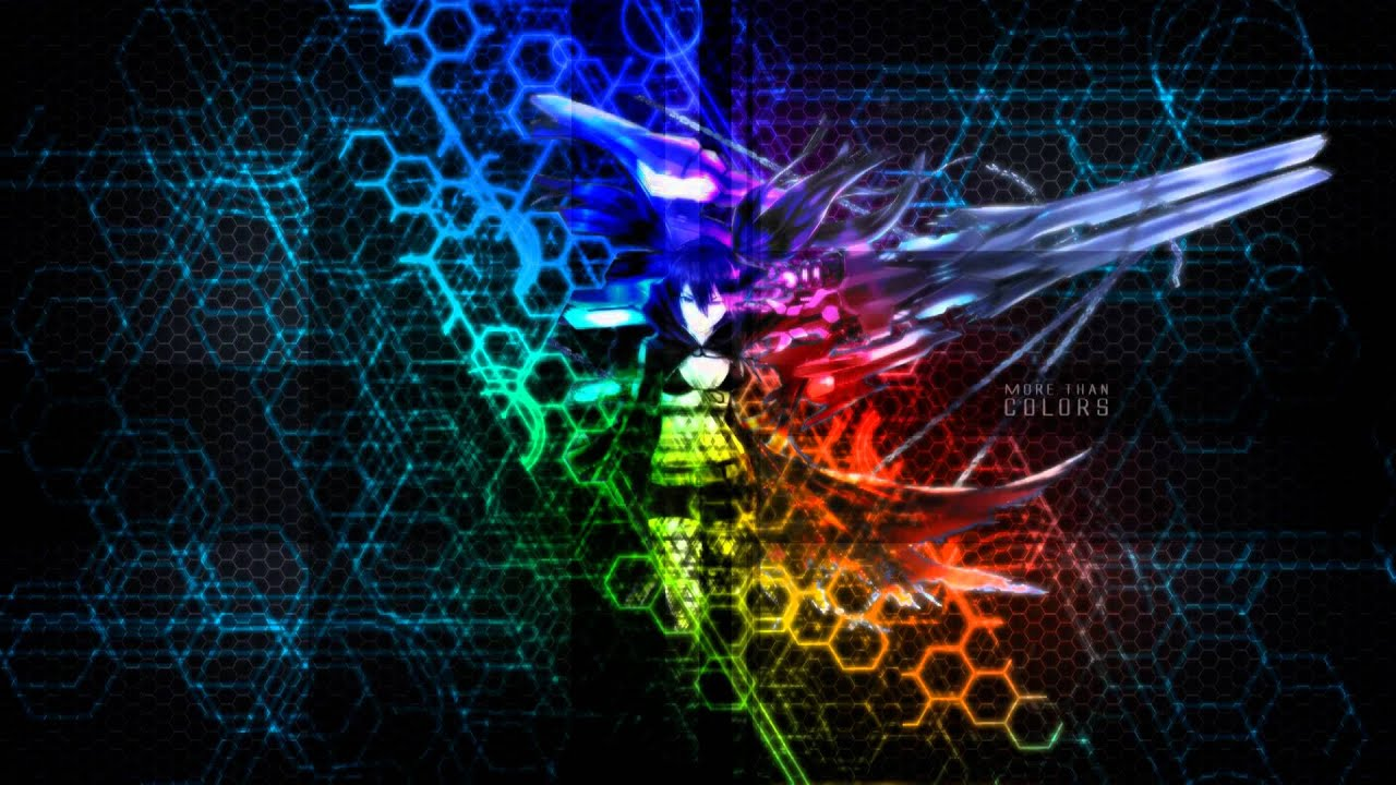 black�rock shooter background 1920x1080 youtube