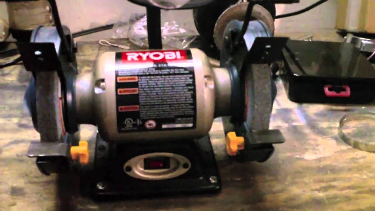 New Ryobi 6 Inch Bench Grinder Youtube