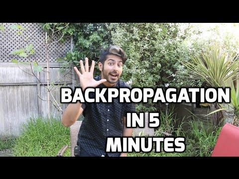 Backpropagation in 5 Minutes (tutorial)