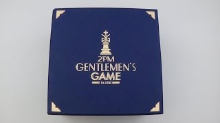 unboxing 2pm 투피엠 6th studio album gentlemen s game limited edition