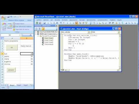 tutorial VBA: maximo valor en hoja de cálculo excel 2007 ...