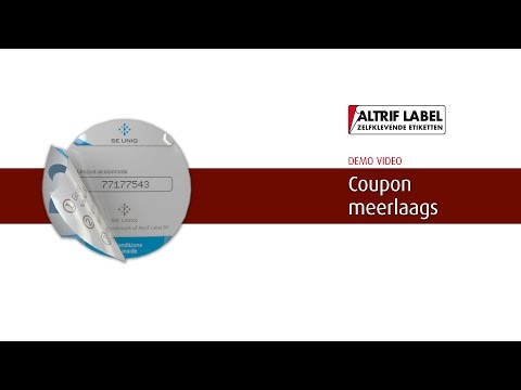 Coupon stickers (meerlaags) | zelfklevende stickers op rol - Altrif Label