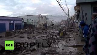 RAW: Chile flash flood devastation, people, pets struggle in mud & wreckage
